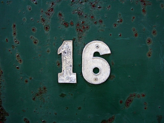 16 sign