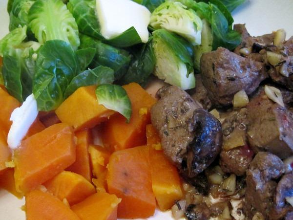 liver - sweet potatoes