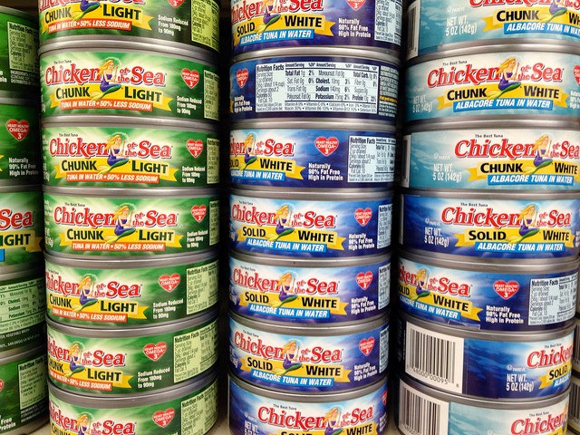cans of tuna