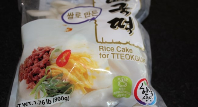 korean rice cake package